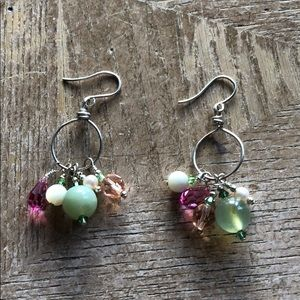 Jewelry - Earrings sterling silver and Chrystal 💕